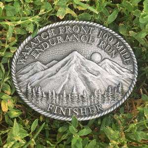 Wasatch 100 Finisher Buckle