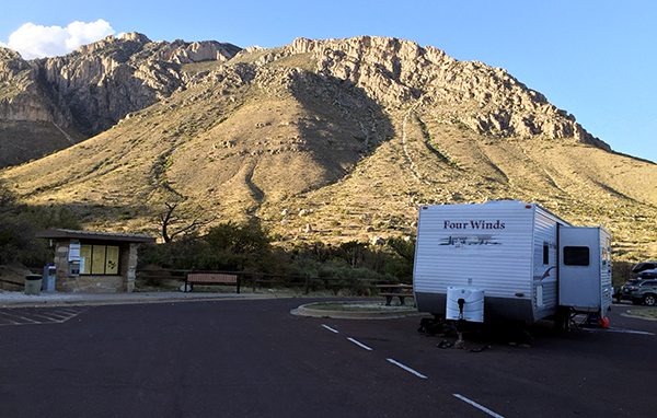 RV Dry Camping in Guadalupe Mountains